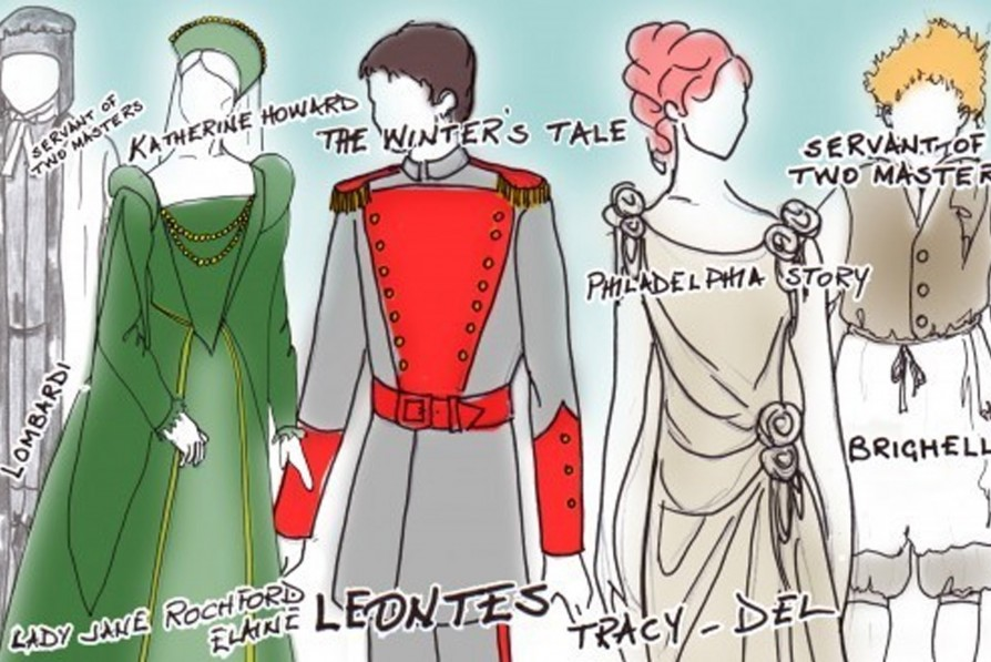 drawings of costumes
